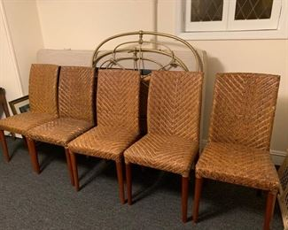 131. 6 Rattan Dining Chairs