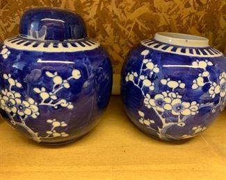 Asian Blue & White Ginger Jars