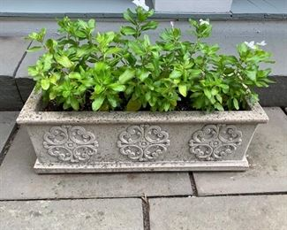 """143. Pair of 26"""" Rectangle Cement Planters"""