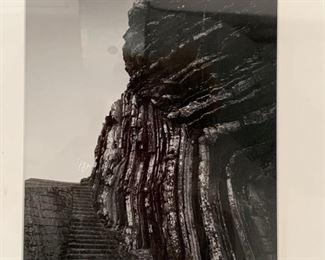188. B/W Photo Print of Landscape w/ Steps
