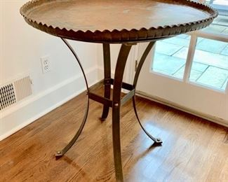 Copper Tray Top Table