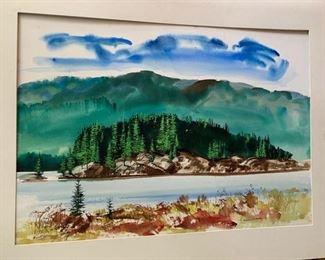 "155. Idaho Forest Scene by Edwin Fulwider (28"" x 20"")"