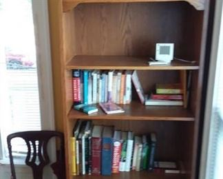 Decorative Furnishings; Books; Side Chairs; and Pair of Book / Display Cases
