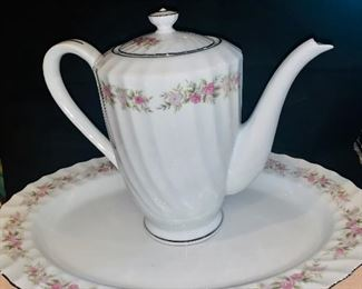 Dansico coffee pot and platter