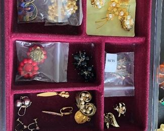 A full table of costume jewelry  - no gold or sterling  all  costume jewelry  .