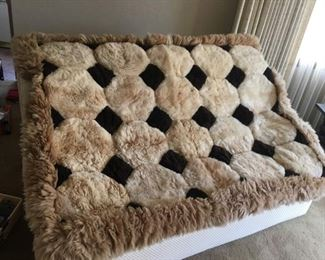 """Luxurious Plush Pieced Sheepskin Rug/Throw/Wall Hanging, You'll Look & Feel Amazing Stretched Out on This! (48""""x 64"""")"""