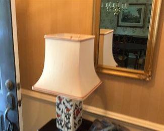 Lamp, mirror