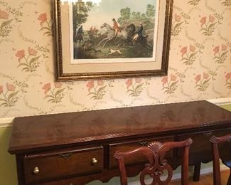 Sideboard and equestrian art