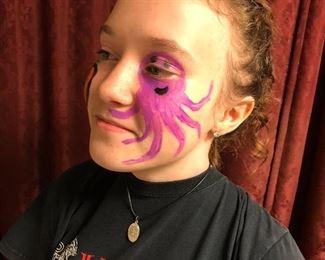 Free hand Face paint art