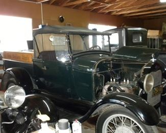 1928 FORD MODEL A ROADSTER PICKUP WITH HISTORY! PRICE $16,000
