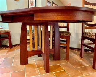 """Hardwood Artisans"" custom made table and chairs"
