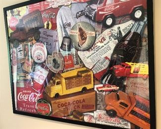 Framed Coke puzzle