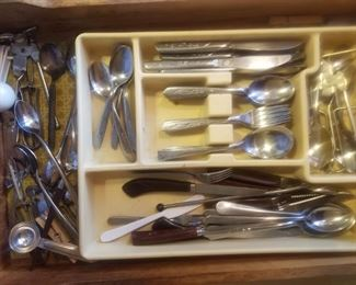 misc. stainless silverware