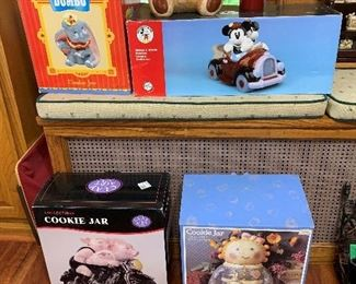 All types of cookie jars, several still in boxes.