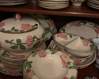 Huge set of this china, lots of serving pieces.