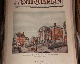 Box of Old Antiquarian Magazines