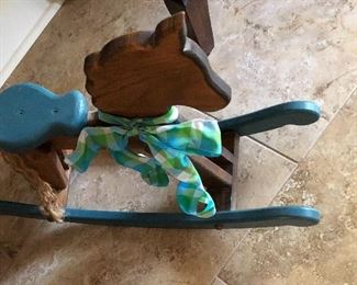 Close up of Miniature Rocking Horse
