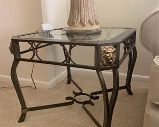 There are 2 of these elegant end tables