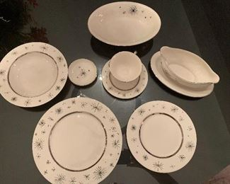 72 piece Mid-Century Fine Arts China, Romance of the Stars, excellent condition.