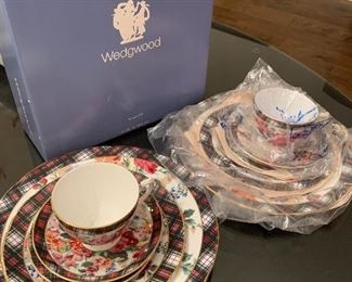 Two 5-piece sets of Ralph Lauren, Hampton Floral, Wedgewood, Bone China.  Never used, in Mint Condition!