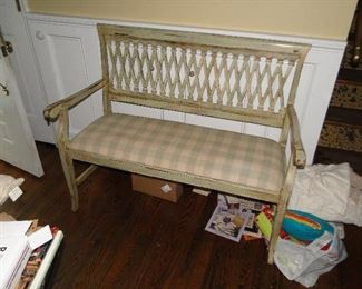 Distressed bench from Domain