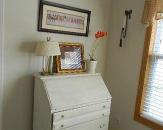$85 Fresh white drop front desk