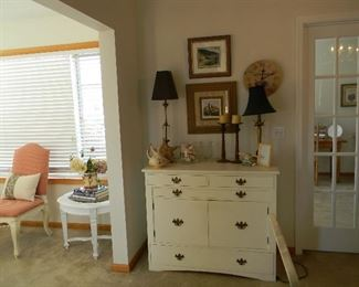 $85 White antique sideboard