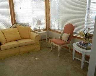 $95 Sunny Yellow love seat
