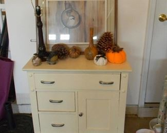 Antique painted white wash stand