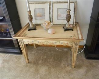 $60 Larger painted table that matches the smaller one by Lane