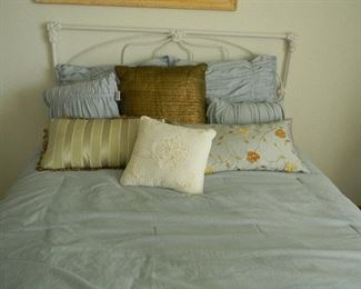 Lovely bedding the bed is sold