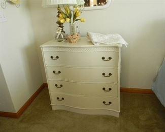 $68 Antique mahogany dresser painted white