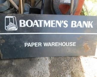 Metal Boatman's sign