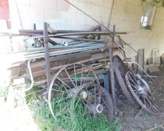 Scrap Metal and Wagon Wheels