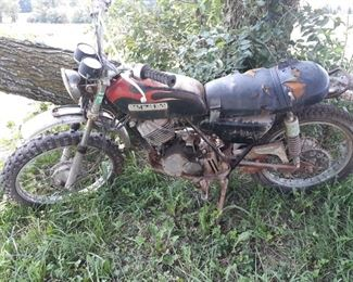 1970's Suzuki dirt bike