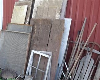 old doors and scrap