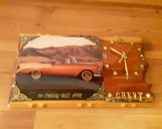 56 Chevy, Wood Clock