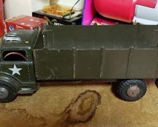 Vintage Metal Army Truck