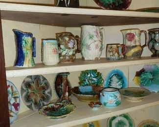 Large Selection of Majolica
