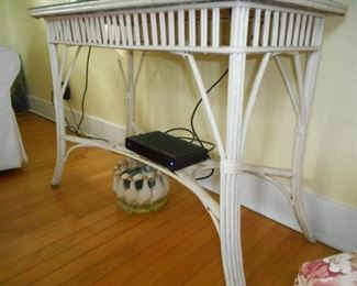 Wicker Console Table