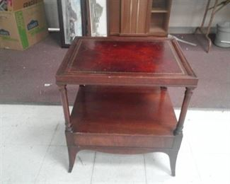 Two Shelf End Table