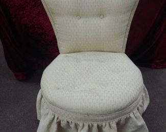 Upholstered Vanity Chair with Ruffle