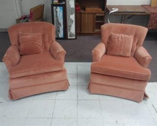 Two Rose Colored Armchairs