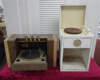 Vintage Record Players - Airline and Junior Juke Box