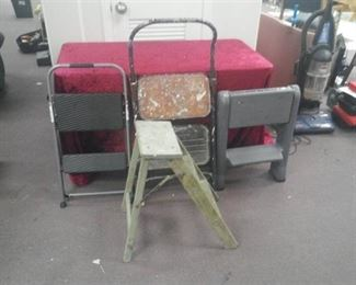 Lot of 4 Step Stools