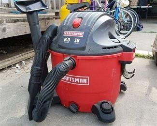 Craftsman 16 Gallon Vacuum 6.0 HP