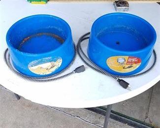 2 Heated Pet Bowls