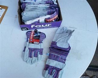 12 Pair West Chester Master Guard 71050/Large Split Shoulder Cowhide Palm Glove