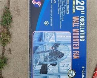 20 inch Oscillating Wall Mounted Fan - Industrial