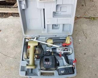 Craftsman 19.2 volt drill, trim saw, flashlight, charger